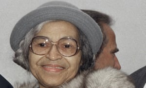The civil rights campaigner Rosa Parks.