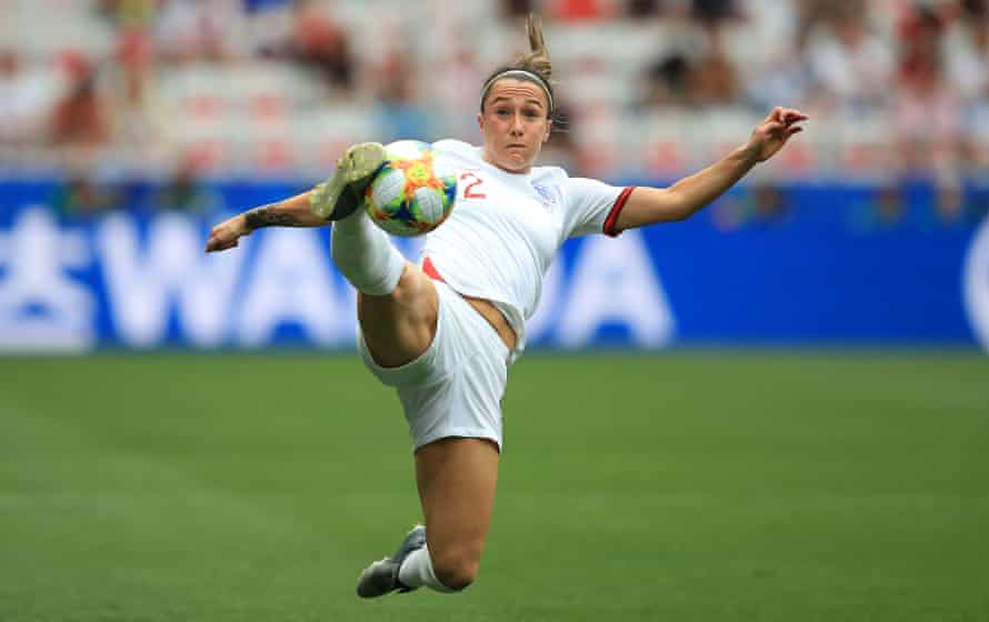 Lucy Bronze in action at the 2019 World Cup. Hege Riise says one of her aims is 'making a great player a little bit better'.