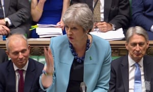 Theresa May at PMQs on Wednesday.