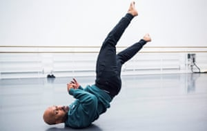 Akram Khan in rehearsals for Xenos.