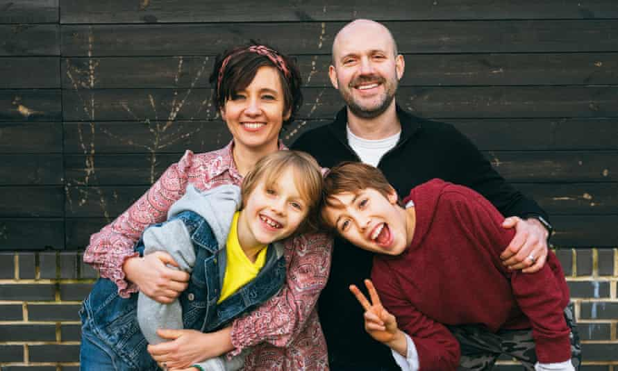 Ilona Bannister with her husband, Tim, and their sons.