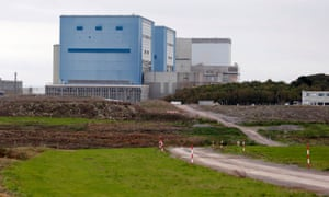 Site for Hinkley Point C nuclear power station in Somerset.