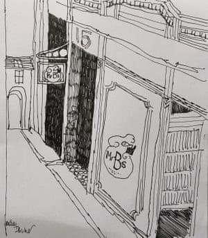 Imtiaz's sketch of Mr B's Bookshop