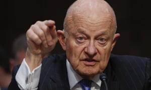 James Clapper testifies on Capitol Hill, during the Senate judiciary subcommittee hearing on Russian interference in the 2016 election.