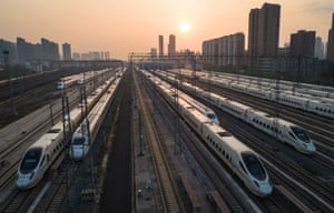 High-speed trains prepare for operation in Wuhan, after almost 11 weeks of lockdown