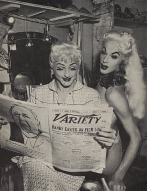 Glamour DragDrag queens are not drag queens unless they can deliver some kind of retina-scorching, taboo-busting spectacle. (Right) Mr Jackie Maye and Mr Robbie Ross backstage at the Jewel Box Revue in 1930s USA.