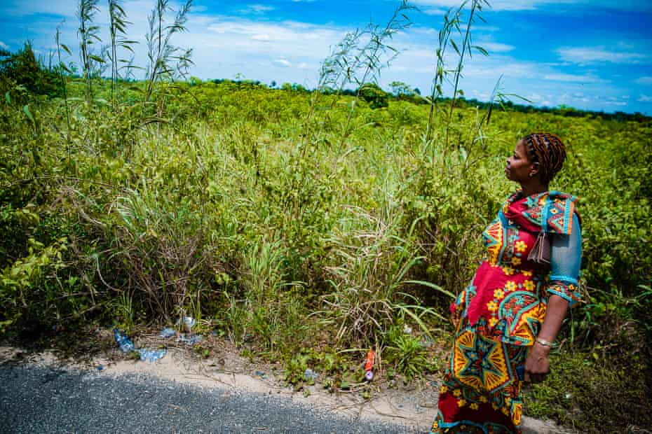 Glory Basi used to farm cassava in Sogho until her land was taken for a banana plantation.