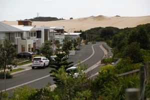 In recent years, the dune landscape has been transformed by residential developments. The Australand development (pictured) is part of a 32ha site on a former sand mine. Permission for the residential development was granted in 2010.