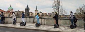 Seqway scooters were banned in Prague city-centre in 2016.