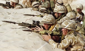 British soldiers training for the first Gulf war in 1991