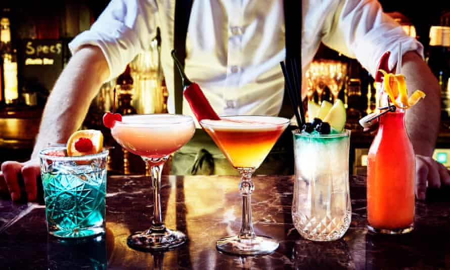 A barman with some cocktails