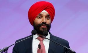 Canadian minister Navdeep Bains