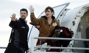 Sarah Palin and her husband Todd, pictured in 2008.
