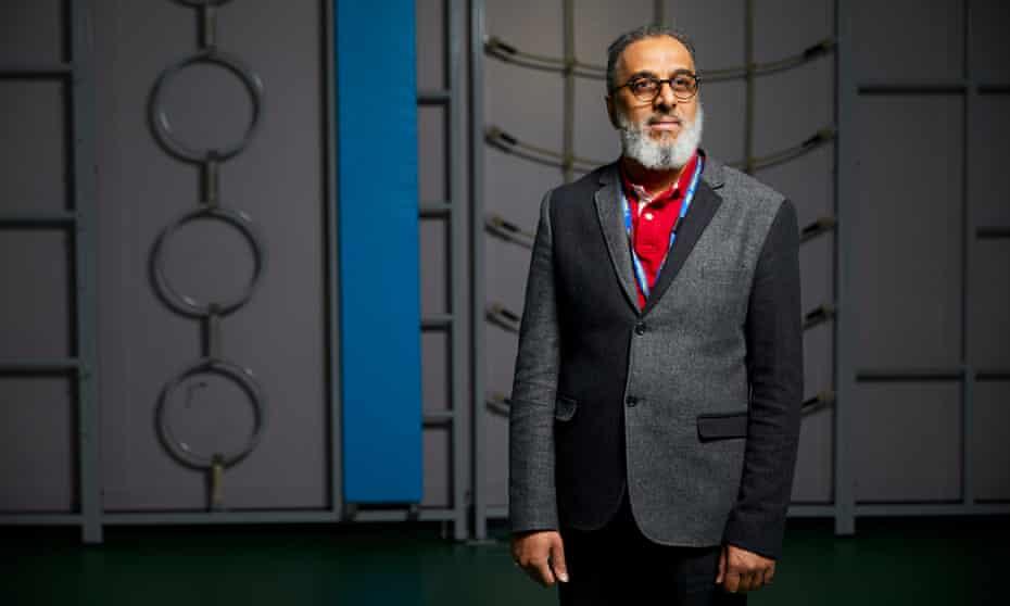 Headteacher Hatim Kapacee photographed in the school gym