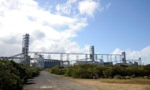 Alcoa Inc.'s aluminium smelter, Portland Aluminium, sits on the headland in Portland, Australia, 12 August 2010.