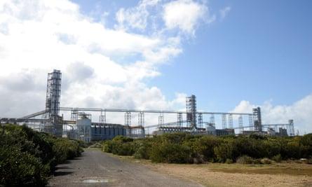 Alcoa's aluminium smelter on the headland in Portland, Victoria