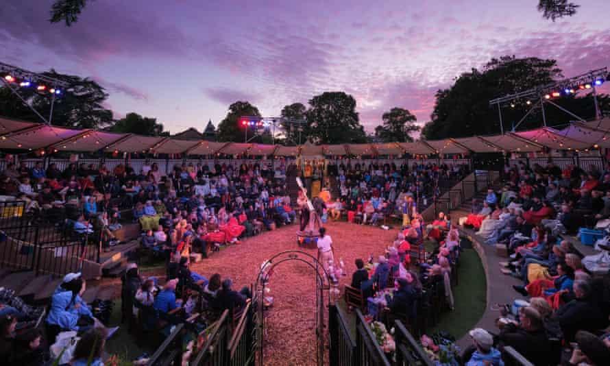 Pre-Covid era production at Grosvenor Park Open Air Theatre, Chester, UK.