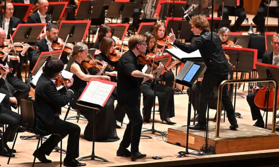 The Philharmonia Orchestra conducted by Santtu-Matias Rouvali with solo violinist Pekka Kuusisto at the Royal Festival Hall.