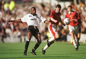 Paulo Wanchope turns it on against Manchester United.