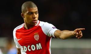 Kylian Mbappé has scored 14 league goals for Monaco this season.