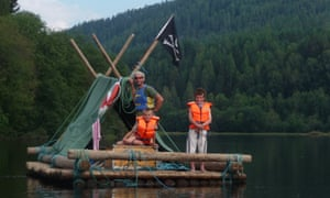 Timber rafting on Klarälven