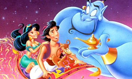 'Equally miserable' … Princess Jasmine and Aladdin in the 1992 film.