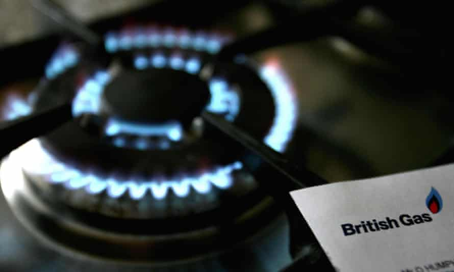 Lit gas ring and British Gas bill
