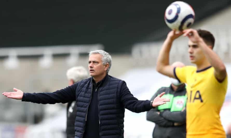 José Mourinho gestures on the touchline