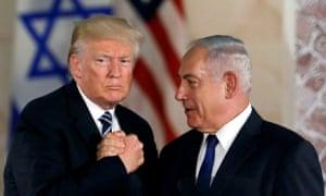 'Gutter politics': Benjamin Netanyahu and Donald Trump at the Israel Museum, Jerusalem, May 2017