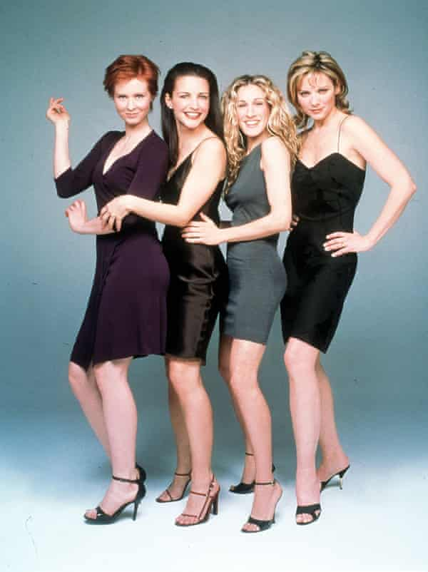 The cast of Sex and the City (from left to right) Cynthia Nixon as Miranda Hobbes, Kristin Davis as Charlotte York, Sarah Jessica Parker as Carrie Bradshaw and Kim Cattrall as Samantha Jones.