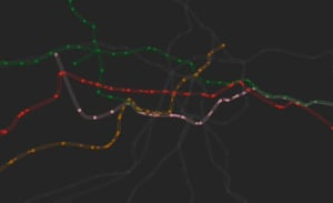 The Tube in 3D. Brazilian web developer Bruno Imbrizi has used publicly available data from TfL to create this 3D visualisation of the Tube system, with each dot representing a station. View the interactive version here.