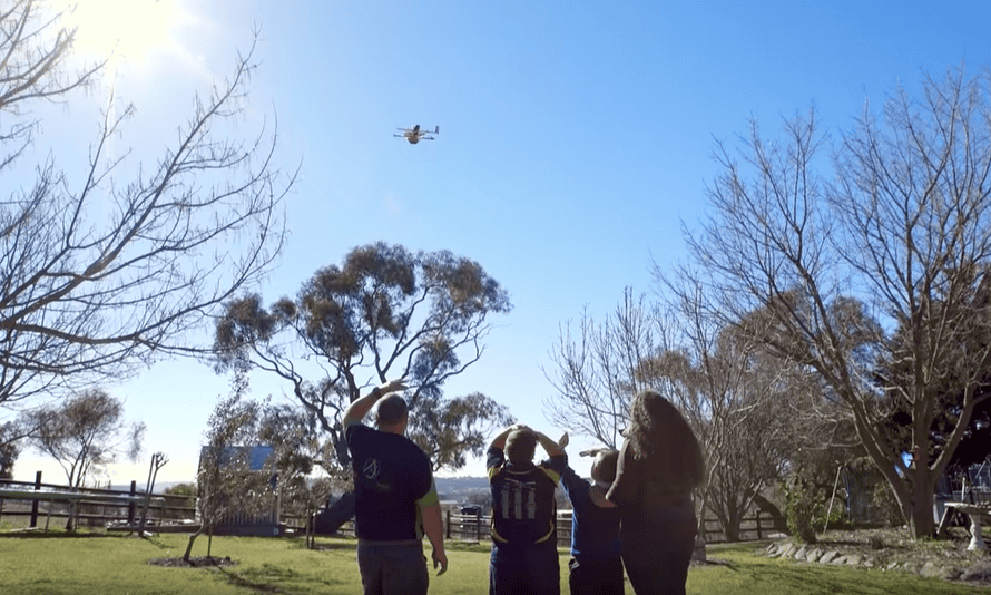 Project Wing in action in rural Australia.