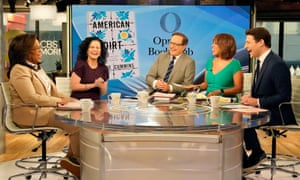 Author Jeanine Cummins (second left) with Oprah Winfrey and hosts of CBS This Morning, January 2020