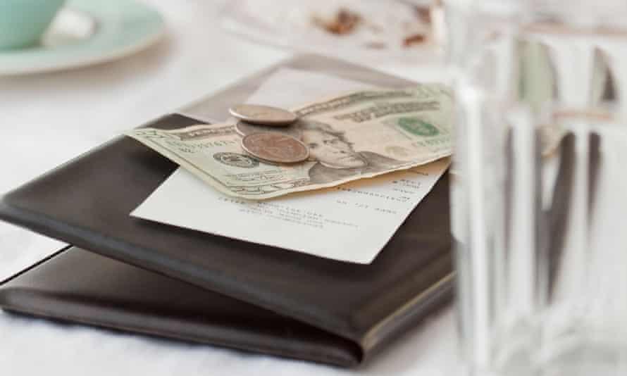 restaurant bill check tip