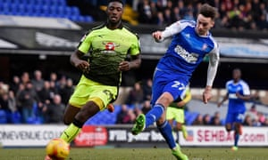 Tom Lawrence scores Ipswich Town's second goalin their 2-2 draw with Reading.