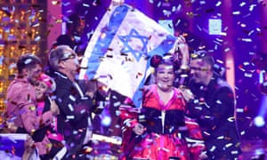 Singer Netta Barzilai representing Israel, wins the 2018 Eurovision song contest in Lisbon, meaning next year's contest will be held in Israel.