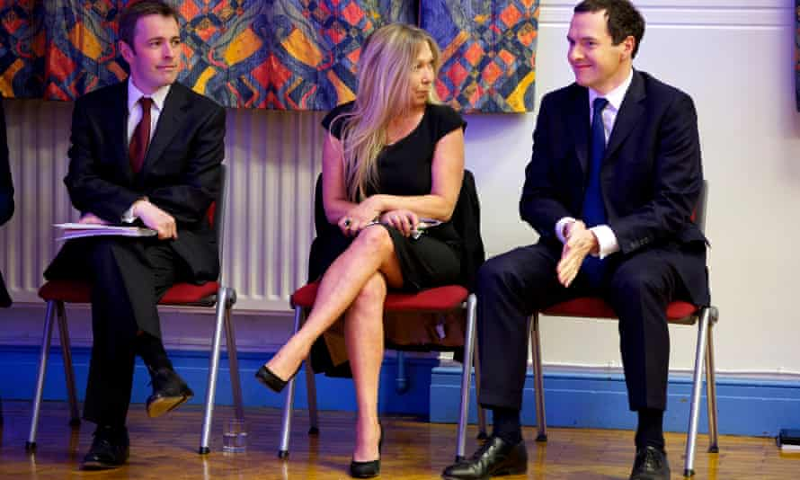 Tina Louise Rothery – the Green party candidate – with Tory candidate George Osborne and Labour candidate David Pinto-Duschinsky in a hustings for the Tatton constituency at the 2015 general election.
