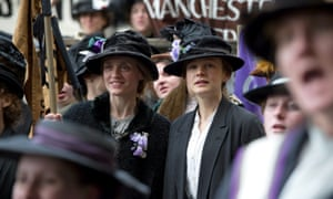 2015, SUFFRAGETTE<br>ANNE-MARIE DUFF & CAREY MULLIGAN  Character(s): Violet Cambridge, Maud  Film 'SUFFRAGETTE' (2015)  Directed By SARAH GAVRON  17 September 2015  SAN53040  Allstar/FOCUS FEATURES  **WARNING** This Photograph is for editorial use only and is the copyright of FOCUS FEATURES  and/or the Photographer assigned by the Film or Production Company & can only be reproduced by publications in conjunction with the promotion of the above Film. A Mandatory Credit To FOCUS FEATURES is required. The Photographer should also be credited when known. No commercial use can be granted without written authority from the Film Company. Entertainment  Orientation Landscape  half body, Halbportrait Hat, Cap, Hut, Kappe