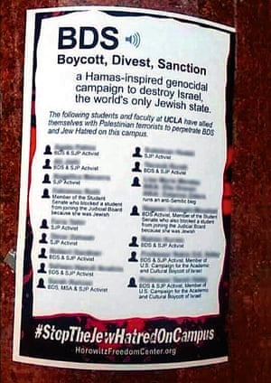 The UCLA poster accusing students and professors of 'Jew Hatred'.