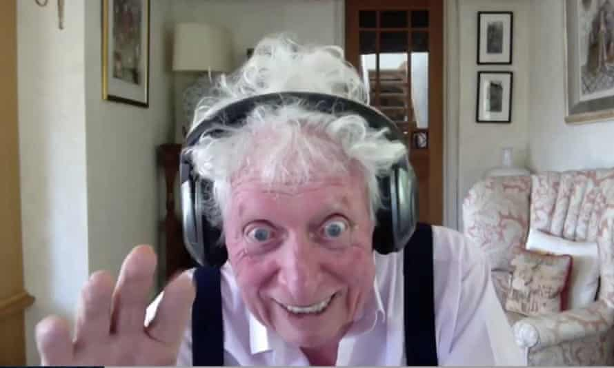 Tom Baker joins a remote recording session for a Doctor Who story during the Covid-19 lockdown