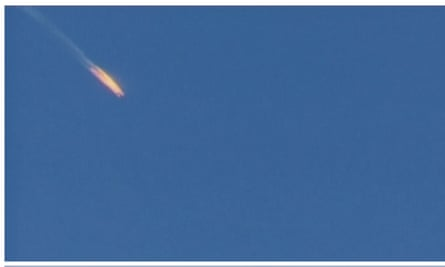"""The warplane crashes on the Syrian border. 'Putin said the incident would be """"analysed""""'"""