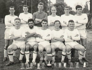 Loughborough Colleges AFC football team 1962-1963, winners of UAU Championship, FA Centenary Trophy, Leicestershire Senior Cup Back row: Ted Powell, Jeff Jepson, Bob Wilson, Keith Blunt, Barry Hines, Dario Gradi. Front row: Brian French, Peter Flann, Alan Craddock, Alan Bradshaw (captain), Chuck Wise.