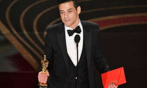 Rami Malek with his best actor Oscar.