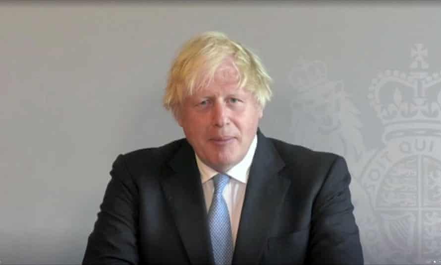 Boris Johnson la PMQ-uri printr-un link video