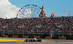 Lewis Hamilton wins.