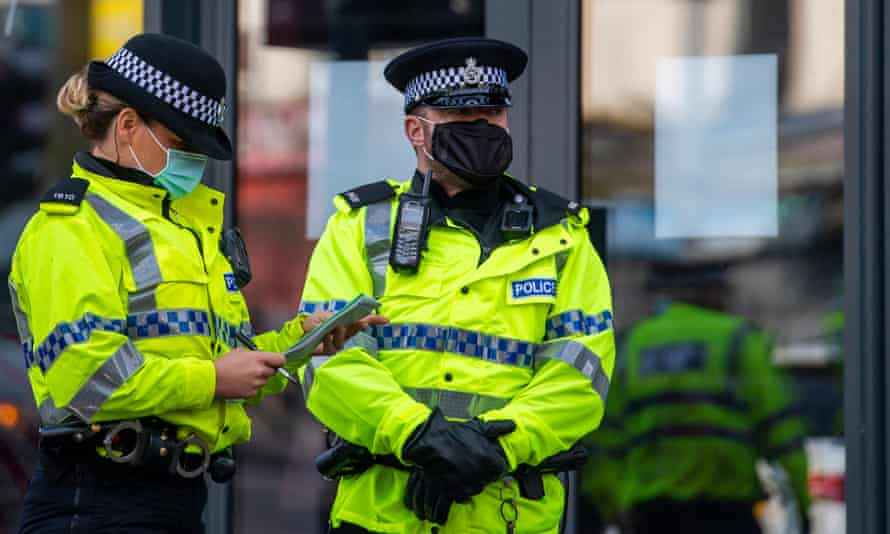 Police officers on patrol in Liverpool.