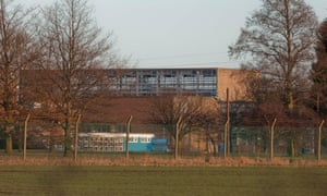 Yarl's Wood immigration detention centre in Bedfordshire.