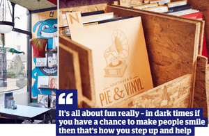 Quote: 'It's all about fun really - in dark times if you have a chance to make people smile then that's how you step up and help'