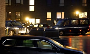 La police d'Aalborg mercredi lors de la série de raids.