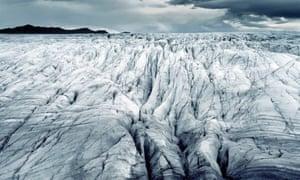 Europe's largest glacier at Vatnajökull in Iceland.